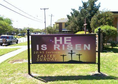 Church Banner Exterior Signage