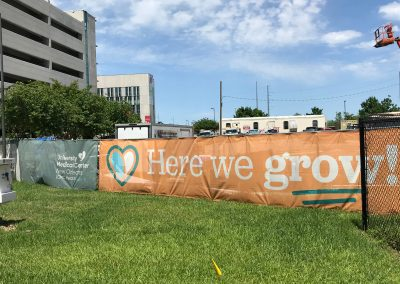 New Orleans University Medical Center Project Signage Fence Wrap