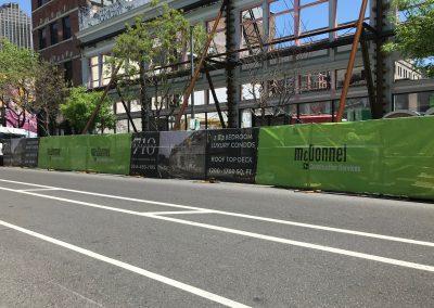McDonnel Construction Services Fence Wrap Project Signage