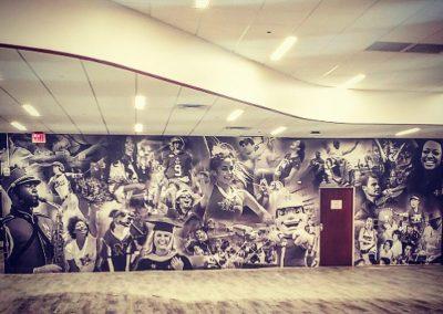 Nicholls State University Student Union Collage Wall Graphic