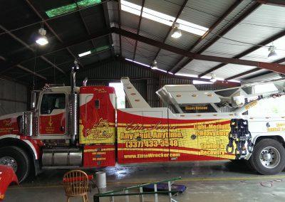 equipment heavy machinery truck wrap