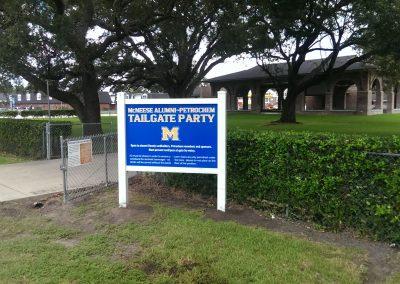 McNeese Exterior Signage