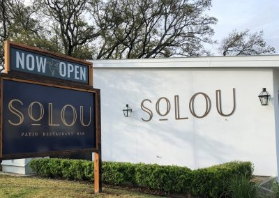 SouLou Restaurant Custom Signage