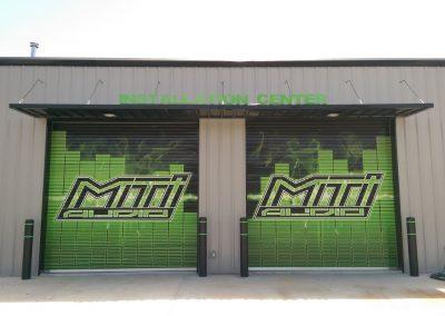 MTI Audio External Door wrap and signage