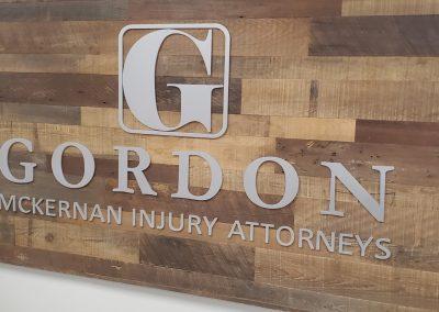 Gordon wood Brand signage